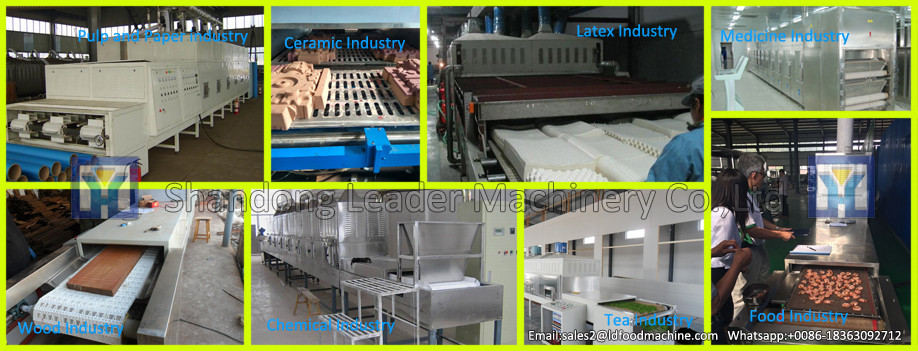 Hot sale industrial Tunnel microwave dryer