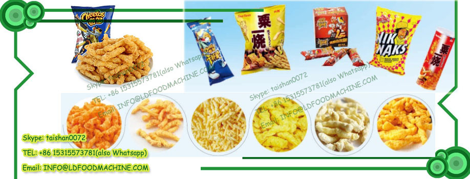 frying kurkure snacks food extruder make machinery processing line