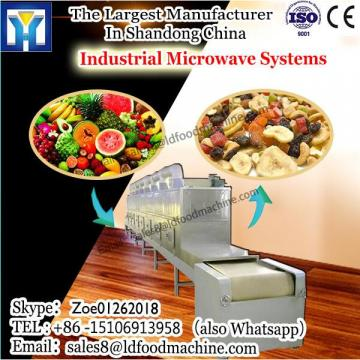 Tunnel microwave oven for roasting nuts