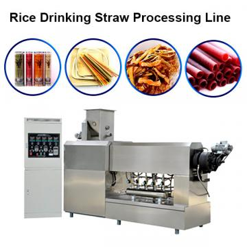 Single Screw Extruder Full Automatic Rice Straw Pasta Straw Making Machine